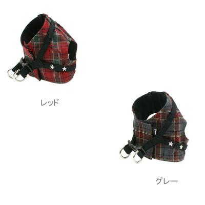 日本制造的舒适束英国检查图案与宠物的束衣