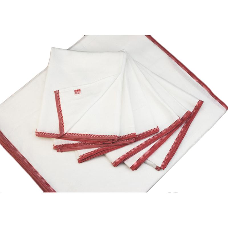待望 50年のロングセラー 台布巾の定番 日東紡ふきん 売店 衛生的に使うには一家に12枚は必要です 日本製 日東紡の新しいふきん12枚入 赤