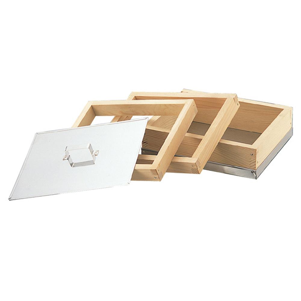 業務用 ミニカステラ枠セット 22.3×18.8cm 木製【和菓子道具 カステラ型 木枠】