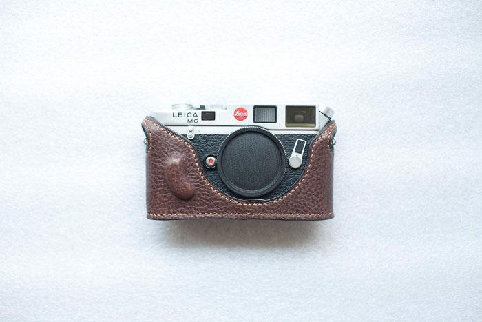 Funper Leica M6 最新アイテム 出群 MP 専用 褐色 ブルタイプ ボディケース 本革