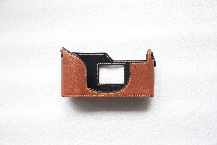 Funper Hasselblad マーケティング XPan II 専用 褐色 本革 ボディケース 値下げ ブルタイプ