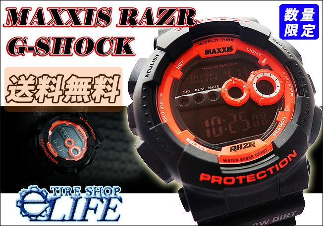 【数量限定販売】 MAXXIS マキシス CASIO カシオ G-SHOCK ジーショック RAZR MT 4X4オフロードスポーツ向け 腕時計【送料無料】