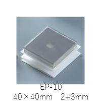 今までにないステンレスサンド耐震ゲル 白熊印 EP-10 サイズ40×40mm厚さ2+3mm 12枚入