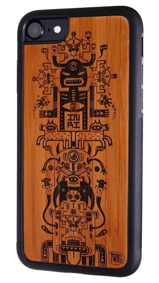 【ネコポス送料無料】【Twig Case】【Talisman de l'eclipse-Bamboo】iPhone 7/7Plus 8/8Plus リサイクルウッドケース【Twig Case 日本総代理店】【再生木材】【木製iPhoneケース】