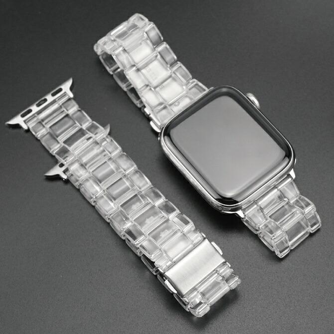 透明でレジン仕様のApple Watchベルト 送料無料 Apple Watch アップルウォッチ Transparent belt レジン ベルト アップルウォッチストラップ 高級感 透明 バンド おしゃれ 女性 人気 レディース 女子 男子 高品質 オリジナル メンズ 男性 大人 トランスペアレント 美しい