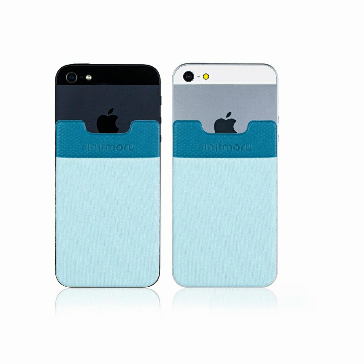 スマートフォンやタブレットなどに貼って剥がせるステッカーブルポケット 送料無料 ROOX 海外並行輸入正規品 ステッカーブルポケット Sinji Pouch Basic2 高級品 ライトブルー スマホアクセ icカード カード 人気 背面ポケット 収納ポケット スマホ アイフォン iPhone ステッカーポケット アイフォーンスマートフォン 激安 便利 簡単