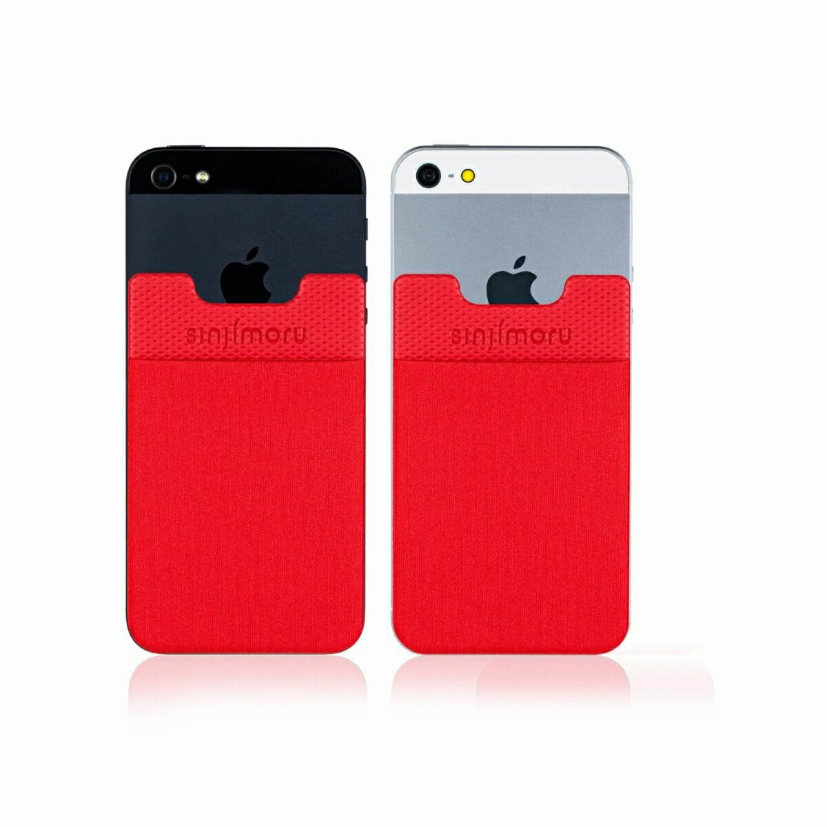 スマートフォンやタブレットなどに貼って剥がせるステッカーブルポケット 送料無料 ROOX ステッカーブルポケット Sinji Pouch Basic2 モデル着用&注目アイテム レッド 好評受付中 スマホアクセ icカード カード アイフォン 収納ポケット アイフォーンスマートフォン iPhone 激安 人気 スマホ 便利 背面ポケット ステッカーポケット 簡単