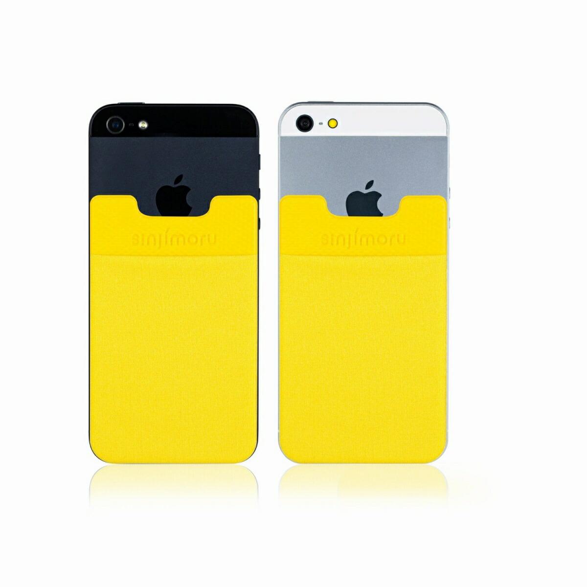 スマートフォンやタブレットなどに貼って剥がせるステッカーブルポケット 送料無料 ROOX ステッカーブルポケット Sinji Pouch Basic2 イエロー スマホアクセ icカード カード ステッカーポケット タイムセール 収納ポケット 便利 アイフォーンスマートフォン 背面ポケット 人気 スマホ 高級品 激安 簡単 iPhone アイフォン