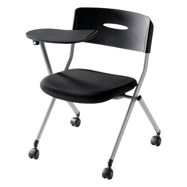 【送料無料】 SANWA SUPPLY(サンワサプライ) メモ台付きミーティングチェア SNC-ST6MABK家具 オフィス チェア 椅子 イス ミーティングチェア チェア 1人 チェア オフィス チェア おしゃれ 椅子 オフィス オフィス 椅子 パソコンチェア デスクチェア オフィスチェア