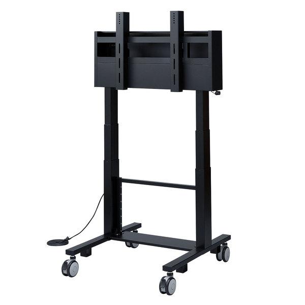移動式テレビスタンド ディスプレイスタンド SANWA ディスプレースタンド スタンド ディスプレイ 液晶スタンド 安定 60型~84型対応電動上下昇降液晶・プラズマディスプレイスタンド(高耐荷重仕様) 【送料無料】 SUPPLY(サンワサプライ) CR-PL24BK液晶