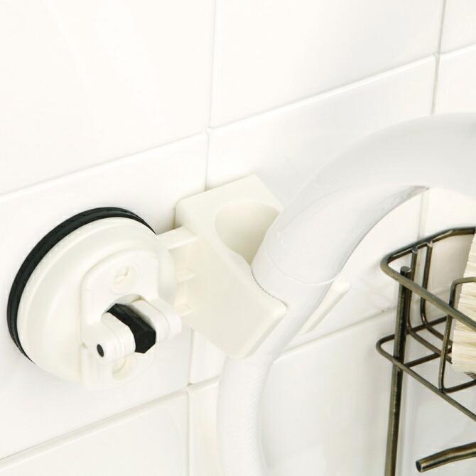 シャワーの位置を簡単にお好きなところに取り付けられる 代金引換不可 スペースマジック 超美品再入荷品質至上 シャワーホルダー ホワイト 浴室 バスルーム シャワーフック 吸盤 スライド シャワーヘッド シャワー 1人暮らし 浄水シャワーヘッド ホルダー くっつく 2段階 バスポ 角度 掛け 今だけスーパーセール限定 清潔