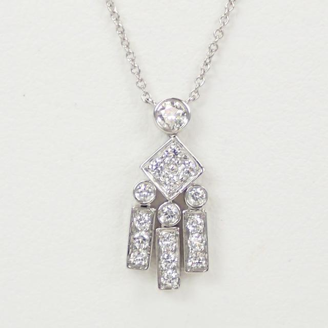 【中古】【辛口評価】【Aランク】Tiffany&Co. ティファニー Pt950 レガシー ネックレス