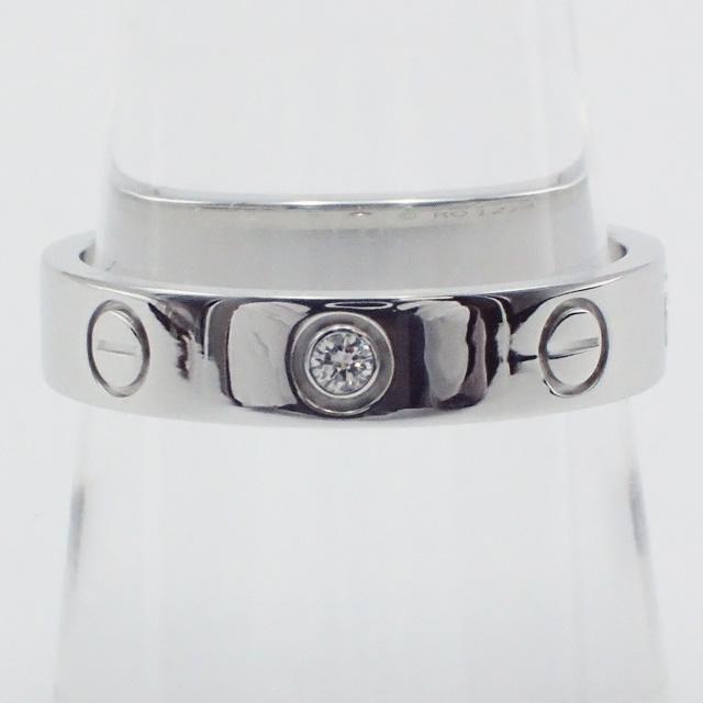 【中古】【辛口評価】【Aランク】Cartier カルティエ K18WG ミニラブ リング 1Pダイヤ B4050552 #52 ゲージ棒約12号