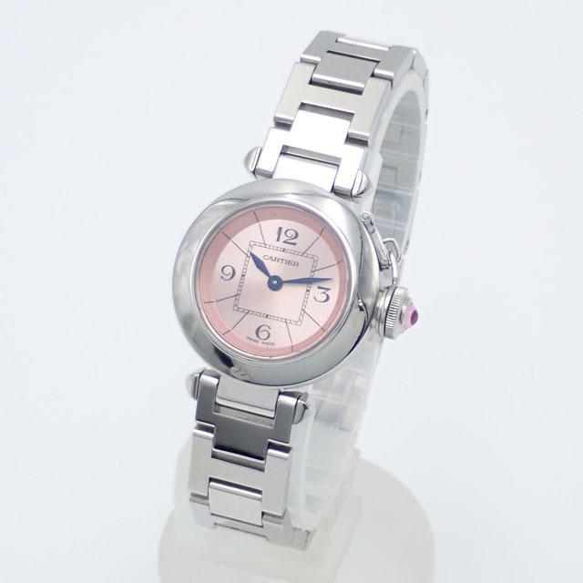 【中古】【辛口評価】【ABランク】Cartier カルティエ ミスパシャ ウォッチ W3140008 ピンク