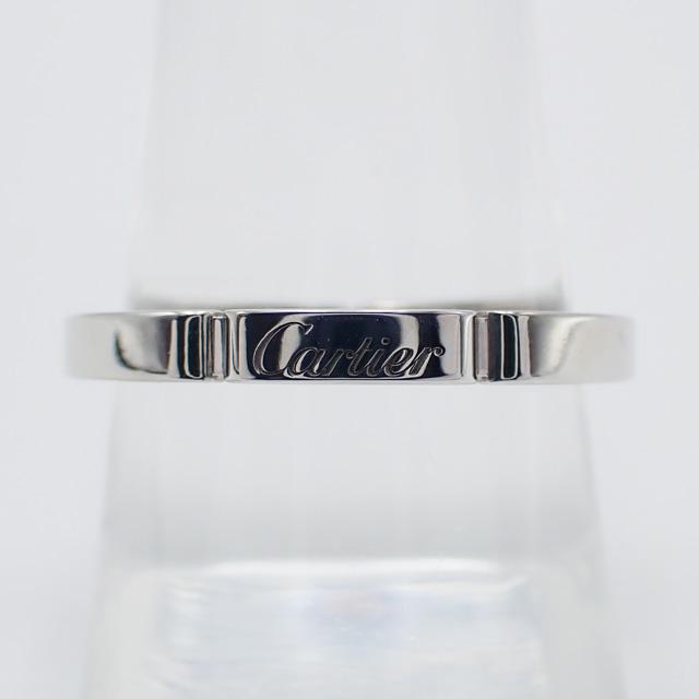【中古】【辛口評価】【Aランク】Cartier カルティエ K18WG マイヨンパンテール リング B4083555 #55 ゲージ棒約15号弱