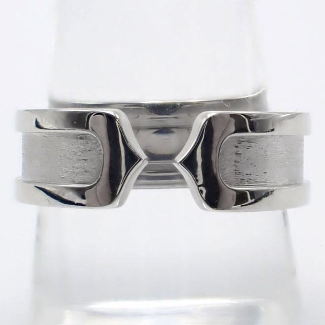 【中古】【辛口評価】【Aランク】Cartier カルティエ K18WG C2リング #54 ゲージ棒約14号