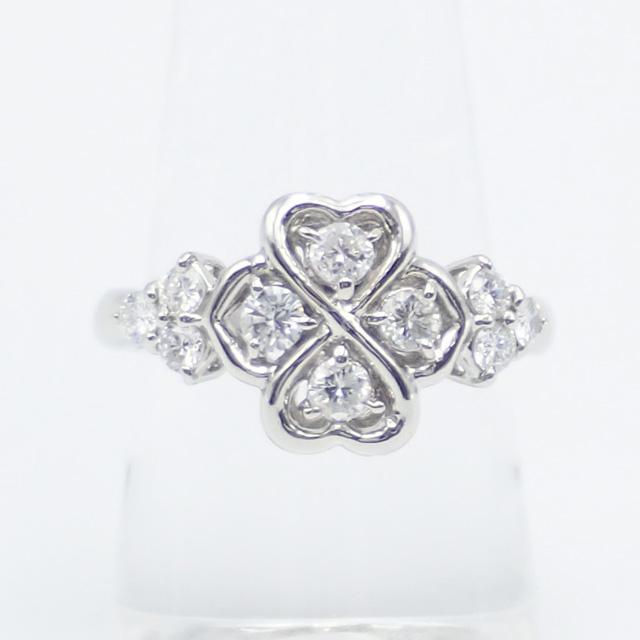 【中古】【辛口評価】【Aランク】Pt900 デザインリング ダイヤ 0.576ct ゲージ棒約11号