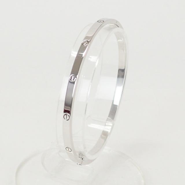 【中古】【辛口評価】【Aランク】Cartier カルティエ K18WG ラブブレス SM B6047419 サイズ19