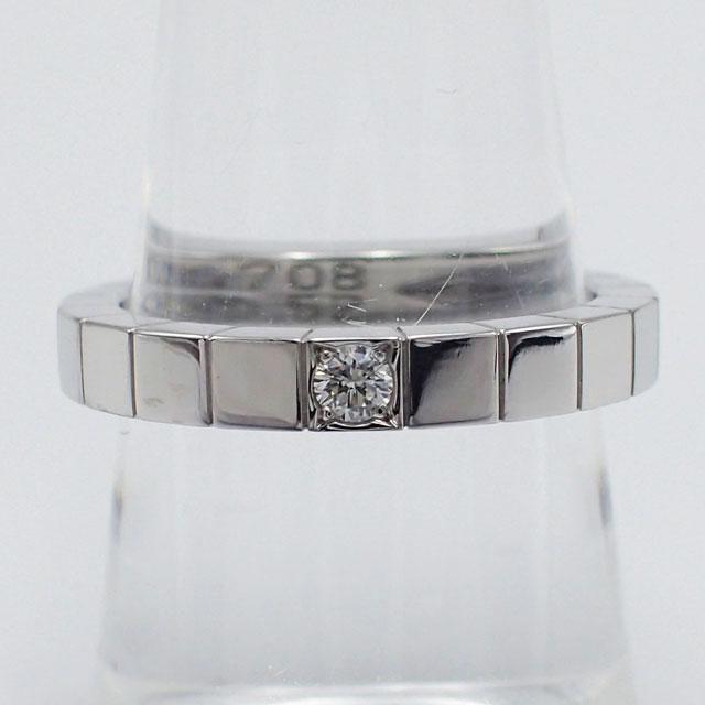【中古】【辛口評価】【Aランク】Cartier カルティエ K18WG ラニエールリング 1Pダイヤ B4058752 #52 ゲージ棒約12号