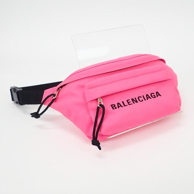 【中古】【辛口評価】【Aランク】BALENCIAGA バレンシアガ ナイロン WHEEL BELTPACK S ボディバッグ 569978 ピンク