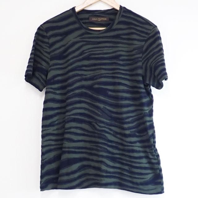 【中古】【辛口評価】【Aランク】LOUIS VUITTON ルイヴィトン Tシャツ コットン サイズL グリーン