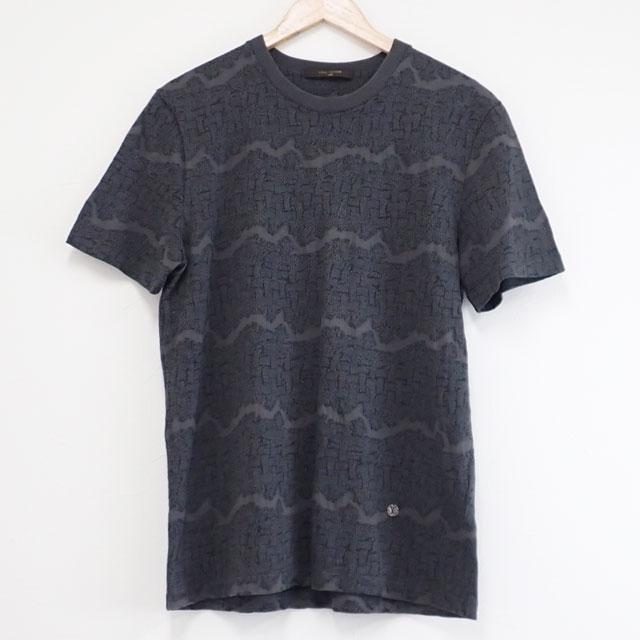 【中古】【辛口評価】【Aランク】LOUIS VUITTON ルイヴィトン クリストファー・ネメス コラボ Tシャツ サイズL コットン ウール グレー