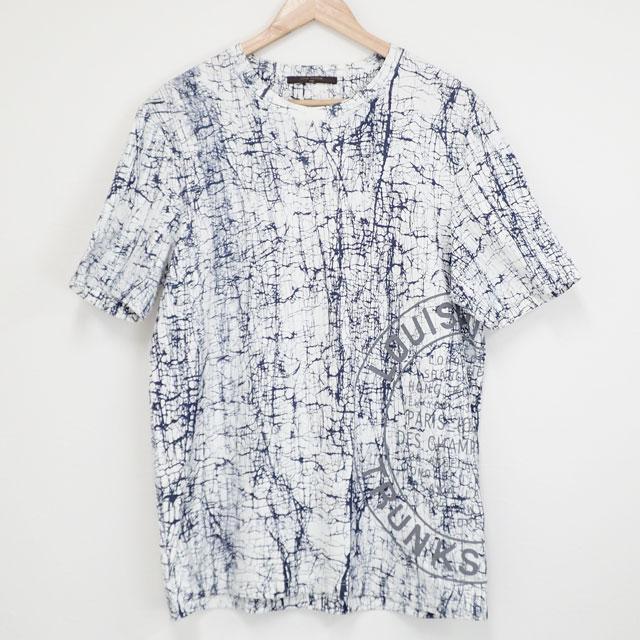 【中古】【辛口評価】【SAランク】LOUIS VUITTON ルイヴィトン Tシャツ コットン サイズXL ホワイト