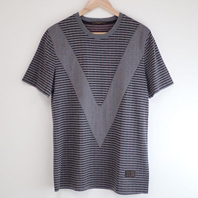 【中古】【辛口評価】【ABランク】LOUIS VUITTON ルイヴィトン Tシャツ コットン ポリウレタン サイズM グレー