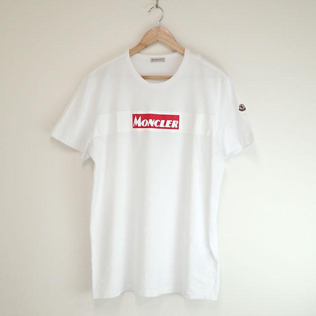 【中古】【辛口評価】【Aランク】Moncler モンクレール ボックスロゴTシャツ MAGLIA サイズ XL E20918048450 8390T ホワイト