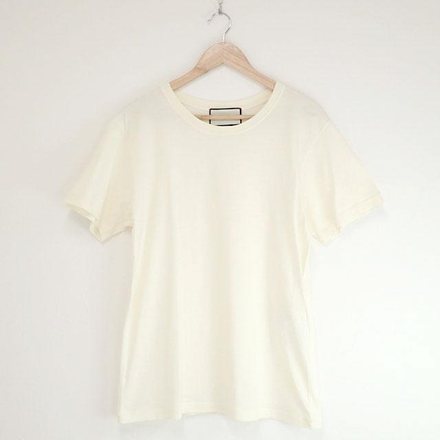 【中古】【辛口評価】【Aランク】GUCCI グッチ オーバーサイズTシャツ 493117 コットン サイズS ワンポイントロゴ ホワイト