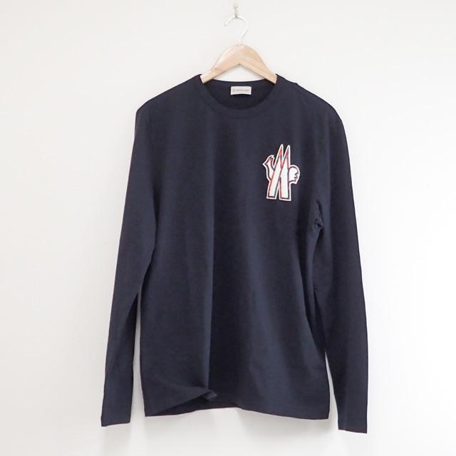 【中古】【辛口評価】【Aランク】Moncler モンクレール 2020SS ロングTシャツ サイズ XL 0918D701208390T778 ネイビー