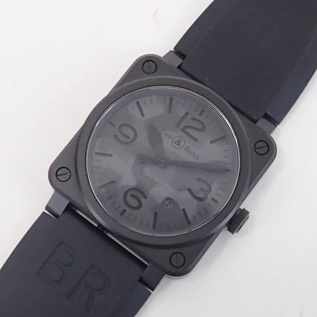 【中古】【辛口評価】【Aランク】Bell&Ross ベル&ロス BR 03-92 BLACK CAMO ブラックラバー