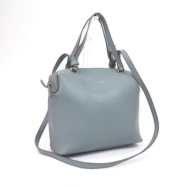 【中古】【辛口評価】【SAランク】CELINE セリーヌ スモール ソフトキューブ 2WAYバッグ ブルー系