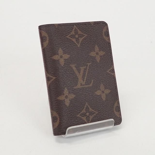【中古】【辛口評価】【Nランク】LOUIS VUITTON ルイヴィトン モノグラム ポケットオーガナイザー カードケース M60502