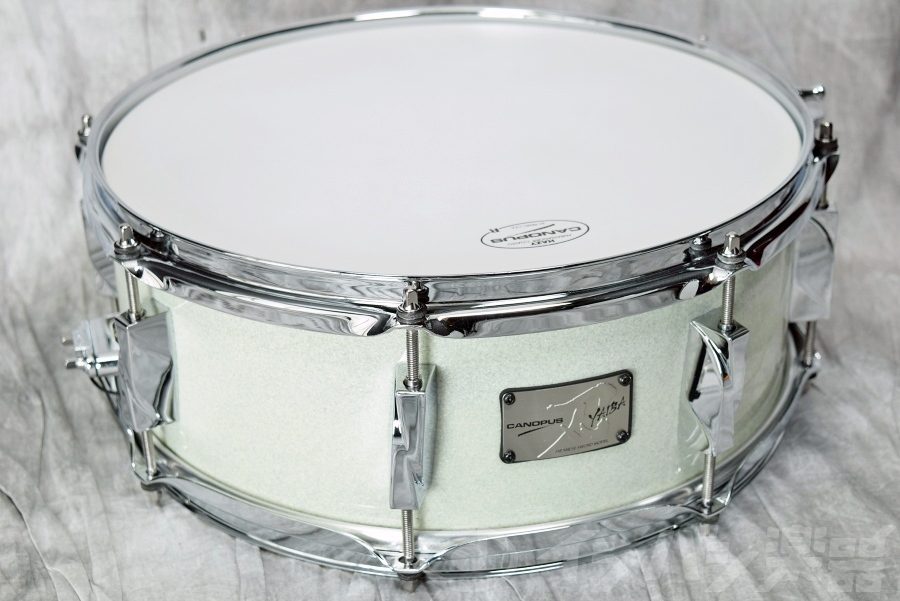 CANOPUS カノウプス / 刃 YAIBA Birch Snare Drum JSB-1455 Ice White Sparkle LQ 【福岡パルコ店】