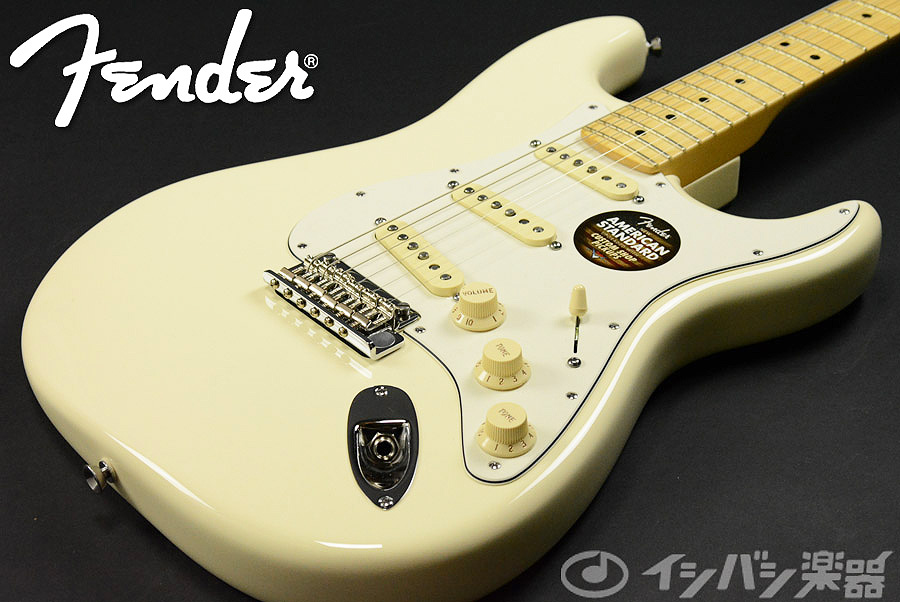 Fender / American Standard Stratocaster Olympic White / Maple 【S/N US14682409】【池袋店】