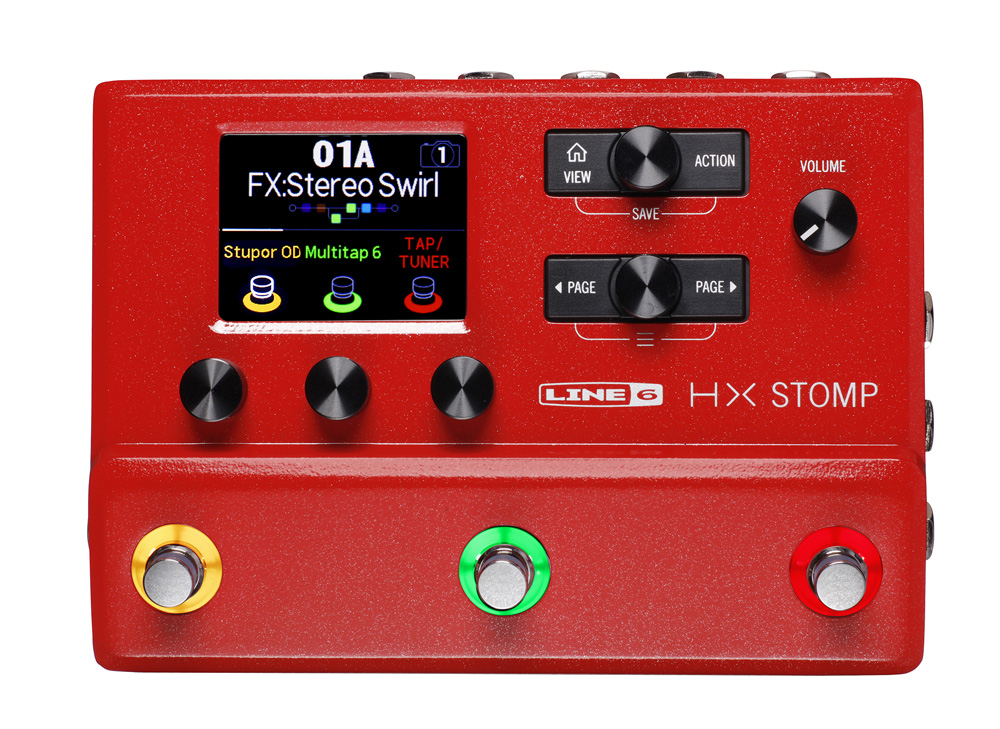 Line6 / HX STOMP RED コンパクト プロフェッショナル ギタープロセッサー エフェクター【横浜店】