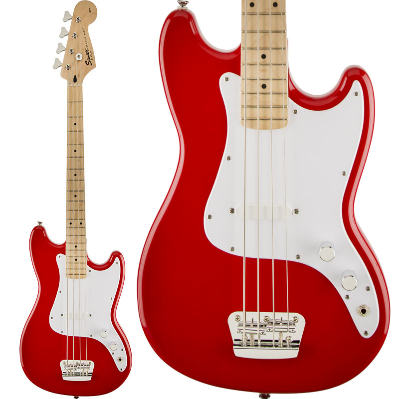 Squier by Fender / Bronco Bass Maple Fingerboard Maple Fingerboard Torino Red 【新宿店】