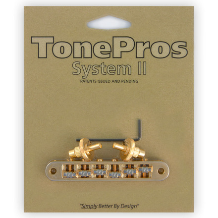 """TONE PROS / TP6R-G Standard Tuneomatic (small posts, """"Roller"""" saddles) 《お取り寄せ商品》【御茶ノ水本店】"""