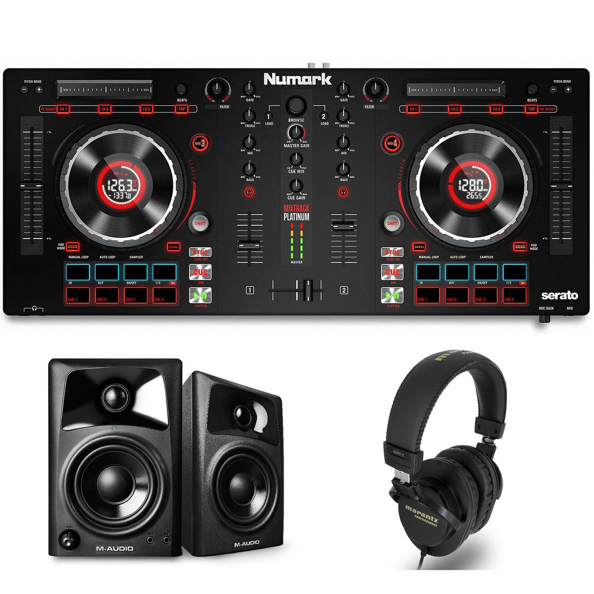 Numark / Mixtrack Platinum START DJセット【SCRATCH音ネタ入りUSBメモリーサービス!】【お取り寄せ商品】【渋谷店】