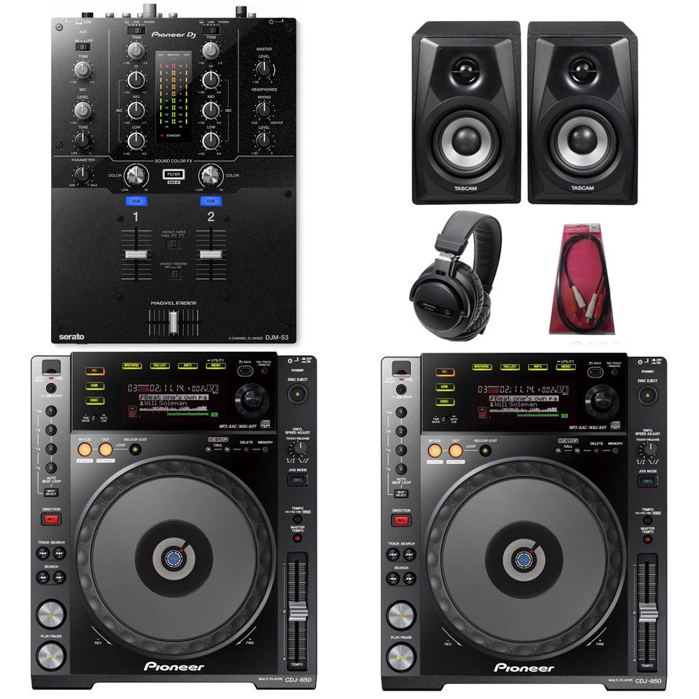 Pioneer DJ / CDJ-850-K×DJM-S3 SET【豪華3大特典付き!】【お取り寄せ商品】【渋谷店】