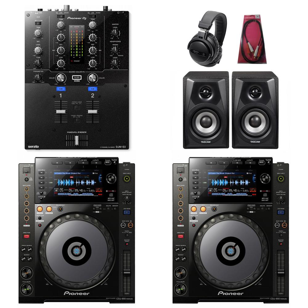 Pioneer DJ / CDJ-900NXS×DJM-S3 SET【豪華3大特典付き!】【お取り寄せ商品】【渋谷店】