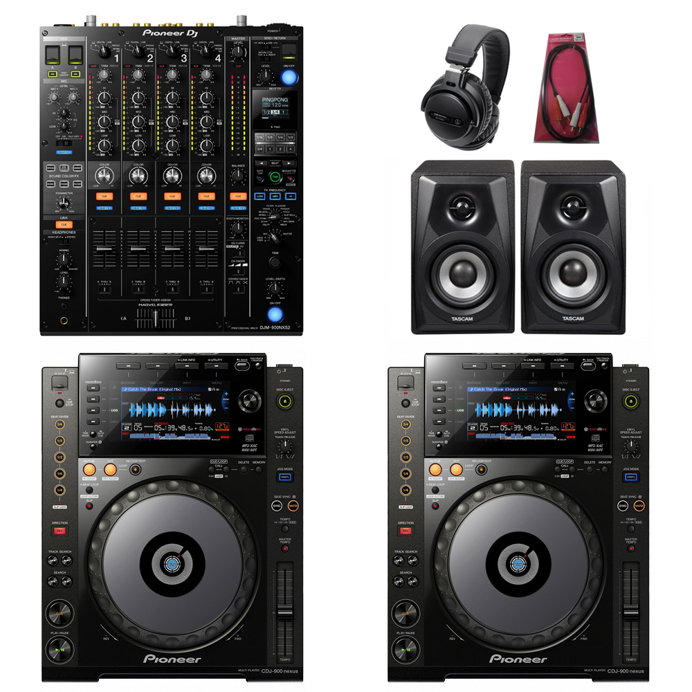Pioneer DJ / CDJ-900NXS×DJM-900NXS2 SET【豪華3大特典付き!】【お取り寄せ商品】【渋谷店】