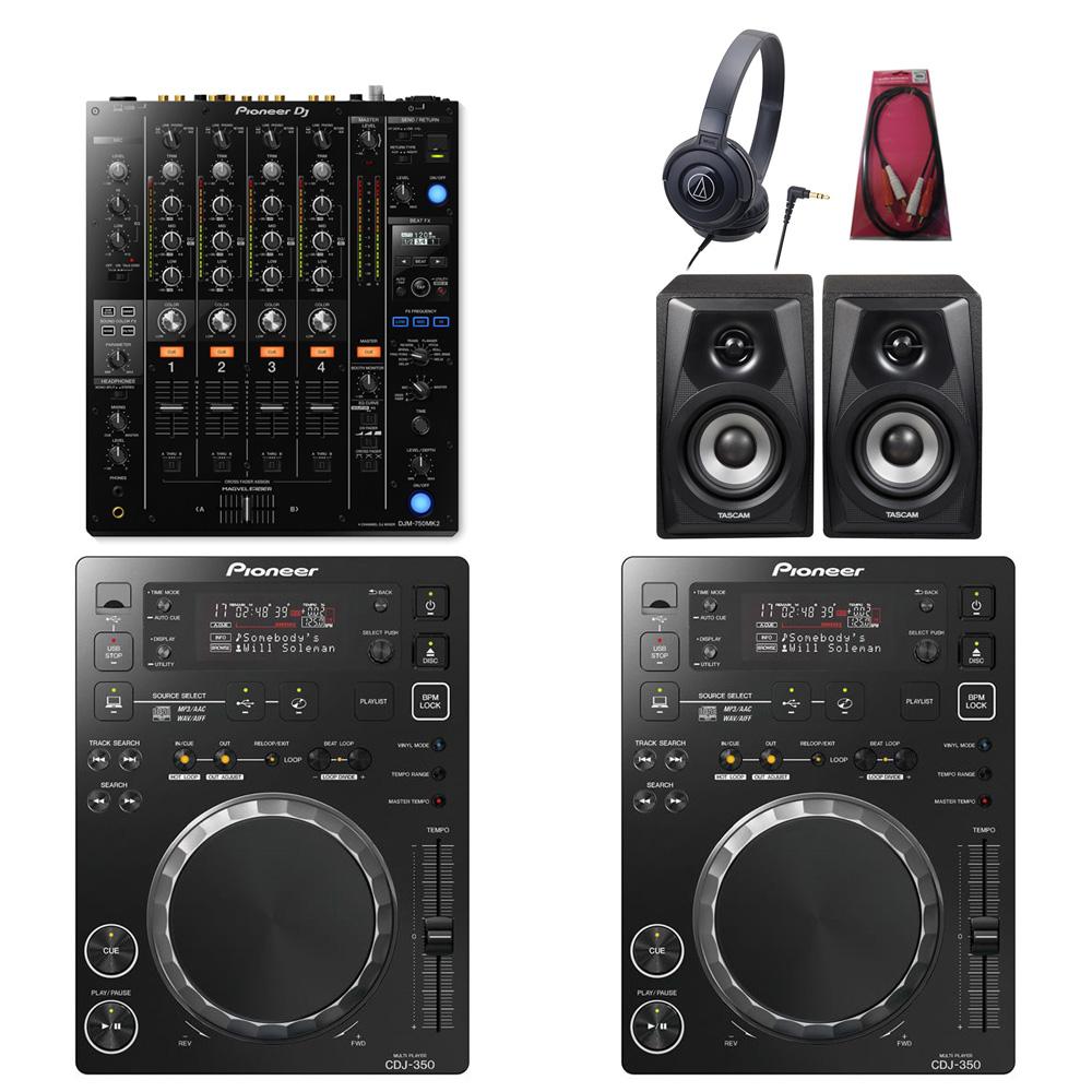 Pioneer DJ / CDJ-350×DJM-750MK2 SET【豪華3大特典付き!】【お取り寄せ商品】【渋谷店】