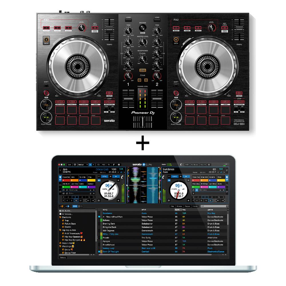 Pioneer DJ / DDJ-SB3 DJコントローラー + SERATO DJ PROセット【豪華2大特典付き!】【お取り寄せ商品】【渋谷店】