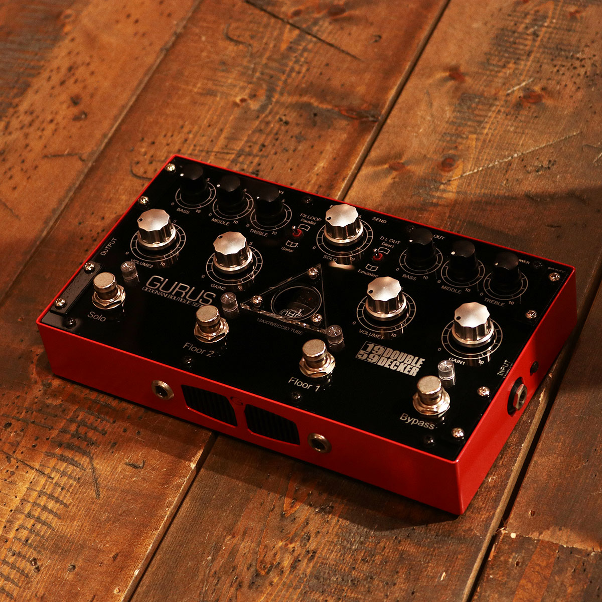 Gurus Amp / 1959 Double Decker 【2チャンネル・プリアンプ・オーバードライブペダル】【渋谷店】