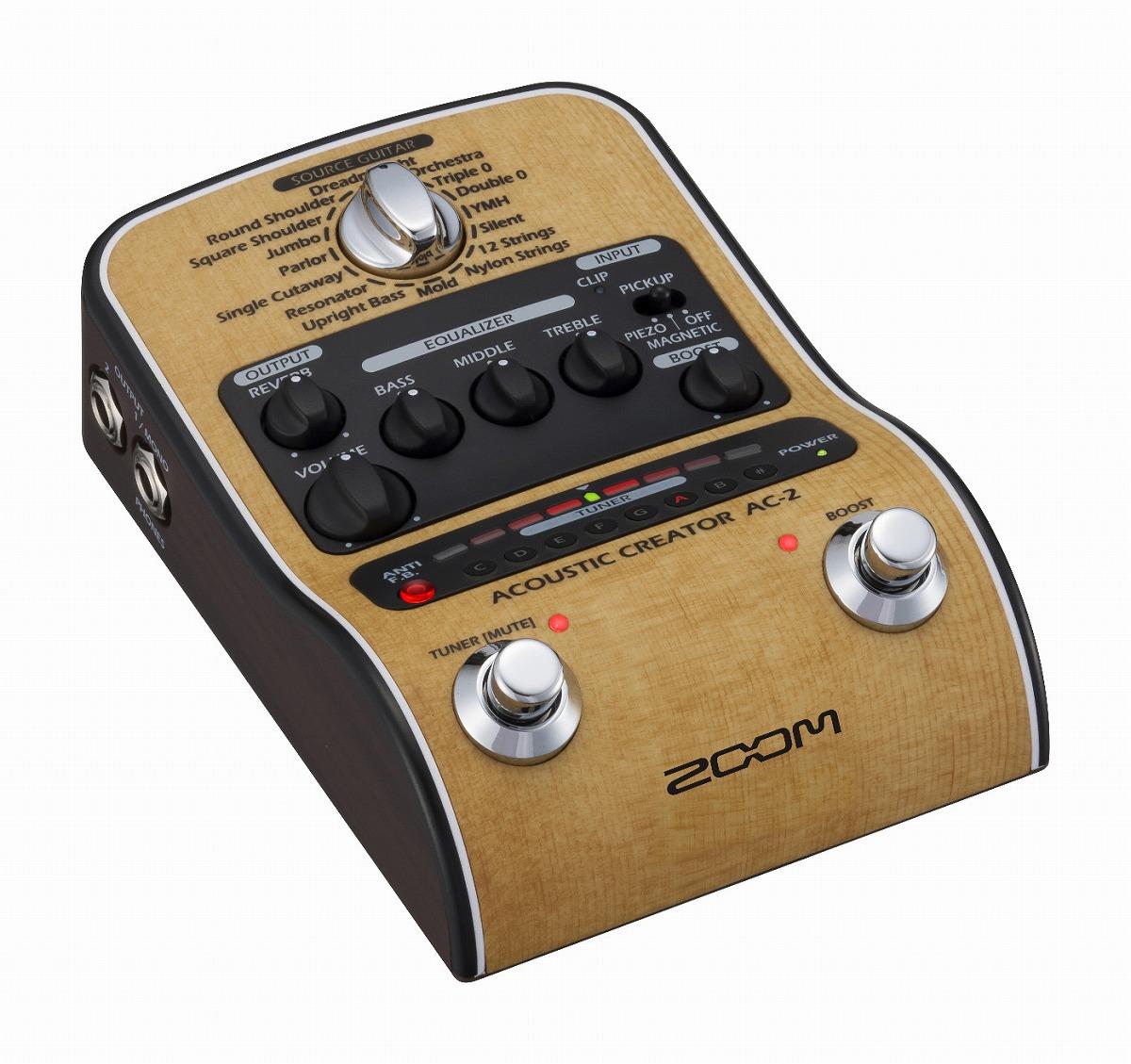 ZOOM / AC-2 Acoustic Creator [アコースティックギター用プリアンプ]【渋谷店】