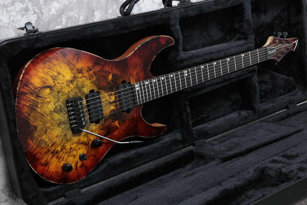 Acacia Guitars / Romulus 6 Modern 24f Buckeye Burl Top Western Sunset アカシアギター 【S/N 1802】【御茶ノ水本店】