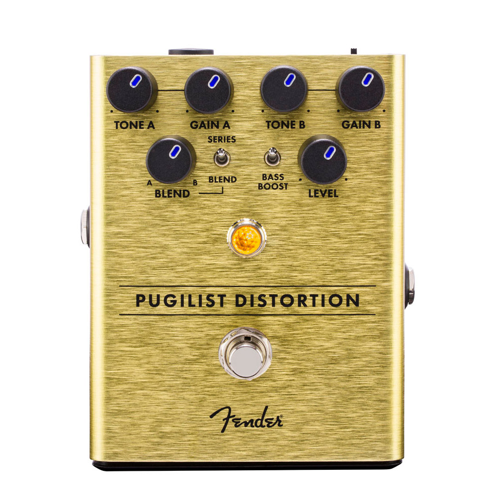 海外 凶暴にも繊細にもなれるディストーションペダル 定番キャンバス Fender Pugilist Distortion ディストーション Pedal 御茶ノ水本店