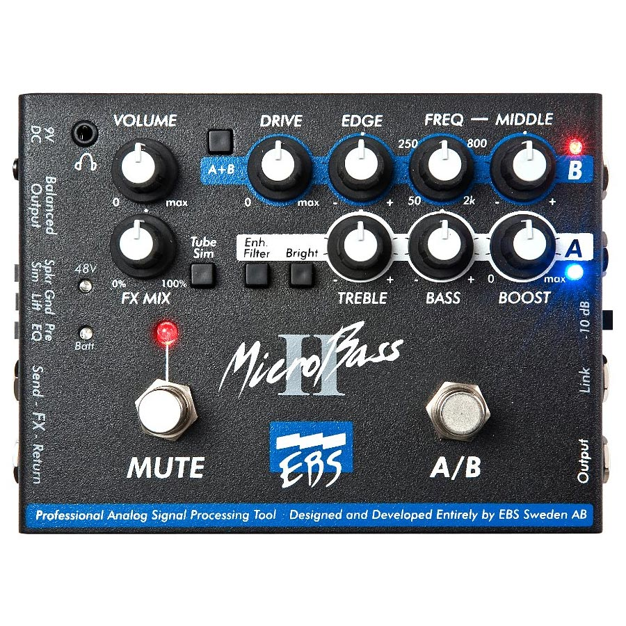 EBS / MicroBass II 2-Channel Preamp / DI-Box [ベース用プリアンプ/D.Iボックス]【渋谷店】